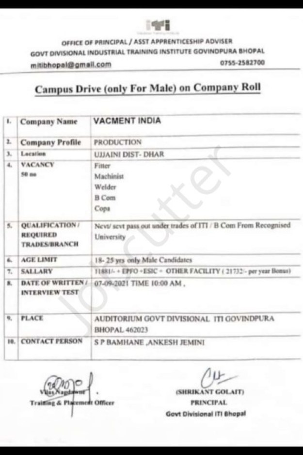 Vacmet India Limited Campus Placement 2021