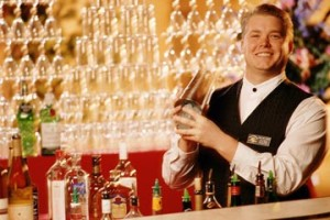 Working as a bartender