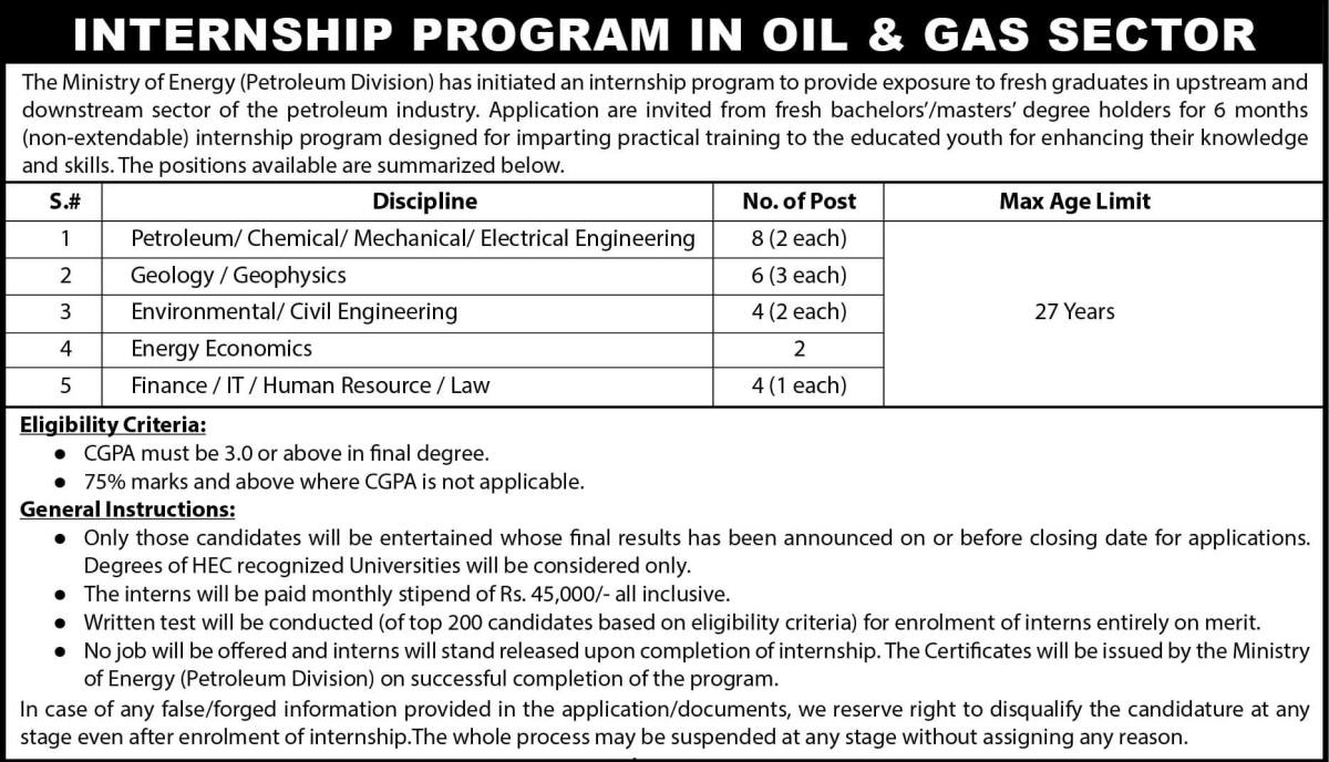 Internship in Ministry of Energy