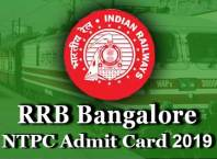 rrb bangalore ntpc admit card 2019 download link