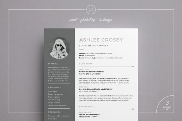 Resume : 2 Page Resume/CV | Professional Resume Template | CV ...