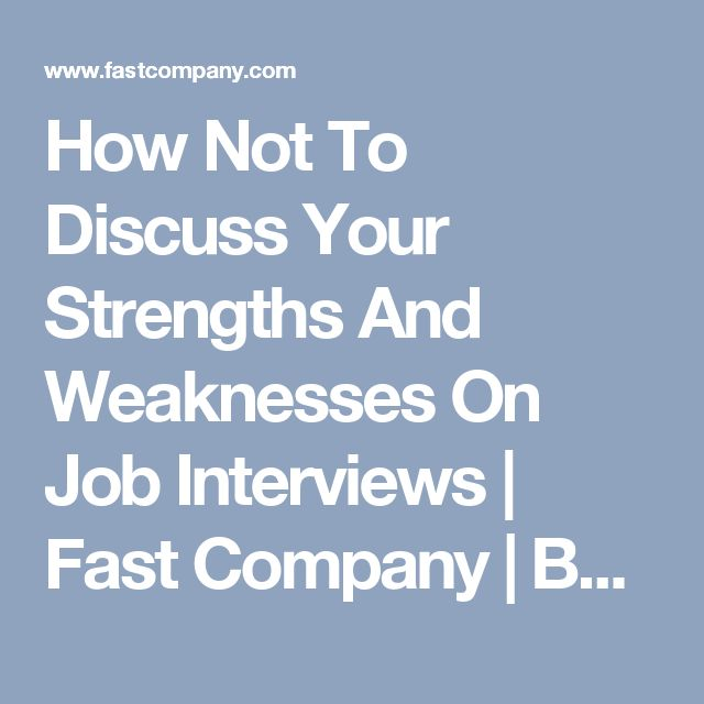 how to answer your weaknesses in a job interview