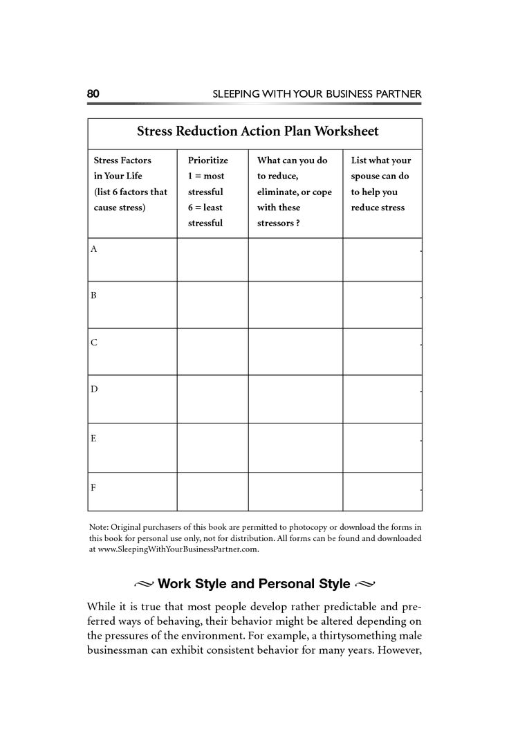 Stress management worksheets \u0026 infographic