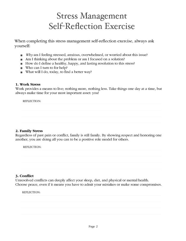 Stress management : Stress Management Worksheet - PDF... - JobLoving.com | Your Number One ...
