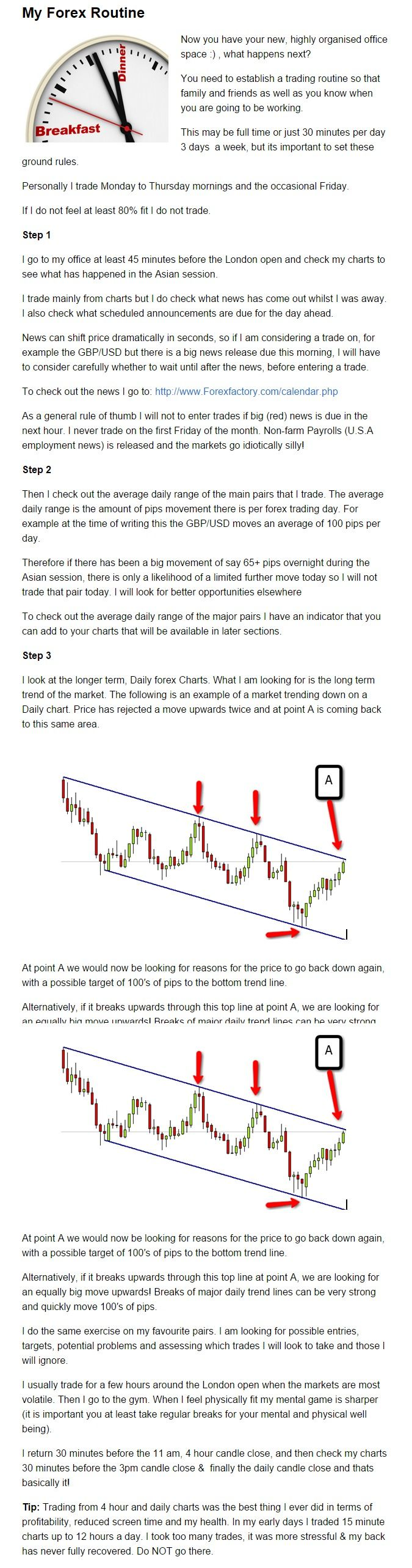 Forex trading daily routine