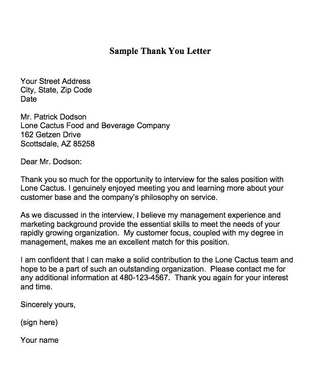 Career Infographic Sample Thank You Letters For An