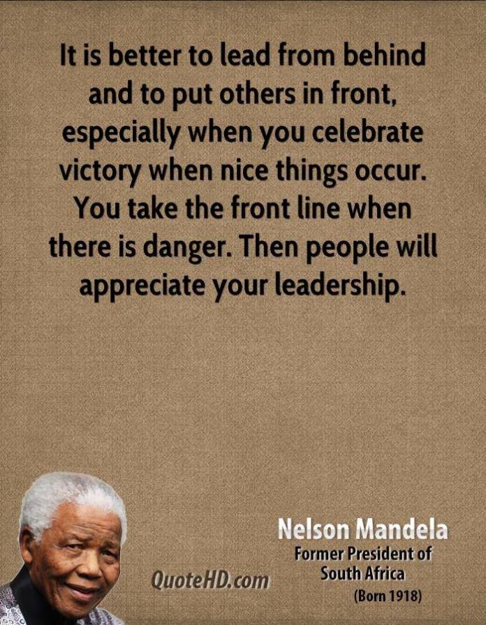 Leadership Quote Nelson Mandela Leadership Quotes Jobloving