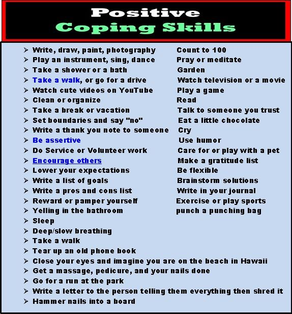 Stress Management Positive Coping Skills By Blake