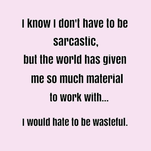 Funny Quotes About Work Glamorous Work Quote  Work Quote  I Dont Have To Be Sarcastic  Funny