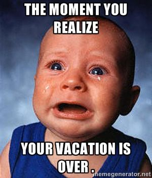 Work Quote The Moment You Realize Your Vacation Is Over