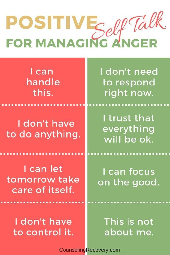 Stress Management Change Your Self Talk Anger Management For