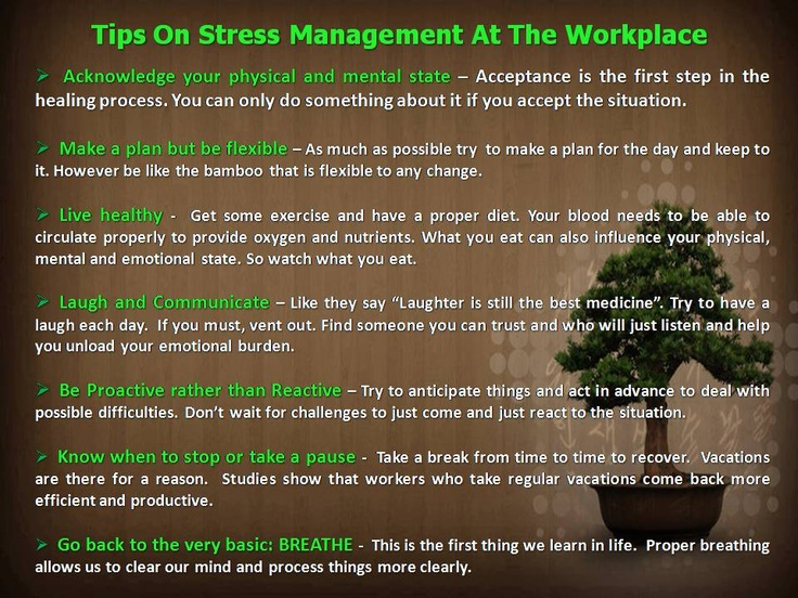 Stress Management Tips On Stress Management At The
