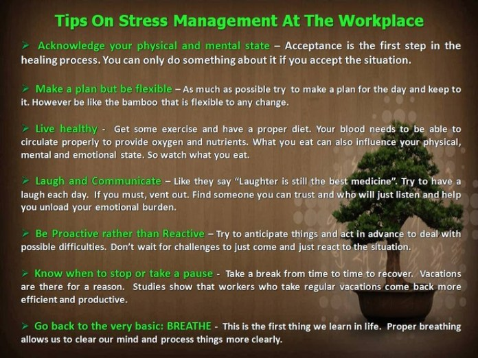 Stress management : Tips on stress management at the ...