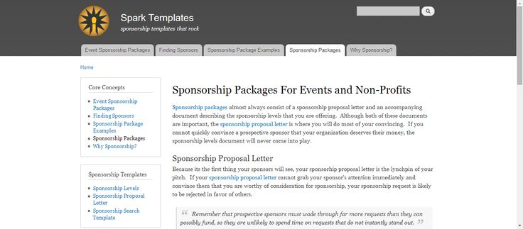 fundraising infographic : Sponsorship Packages for Events and Non ...