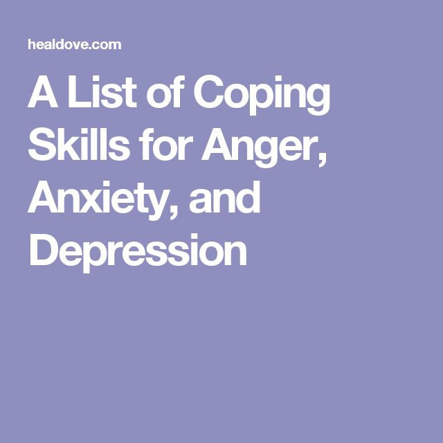 Stress Management A List Of Coping Skills For Anger Anxiety And