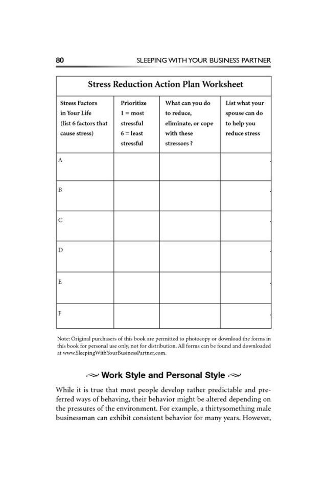 Stress management : Coping with Stress Worksheets Bing Images