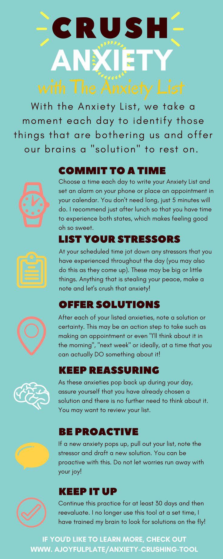 Crush anxiety & stop stress eating! FREE worksheet! - JobLoving.com ...