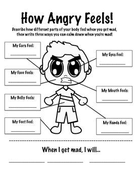 Stress management : Stress management worksheets \u0026 infographic How Anger Feels Worksheet Infographic... - JobLoving.com   Your Number One Source For daily ...