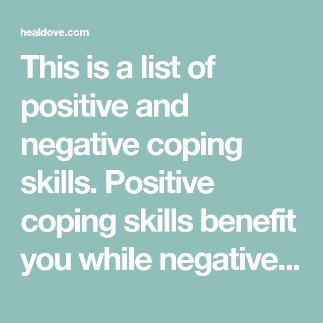 Stress Management This Is A List Of Positive And Negative Coping