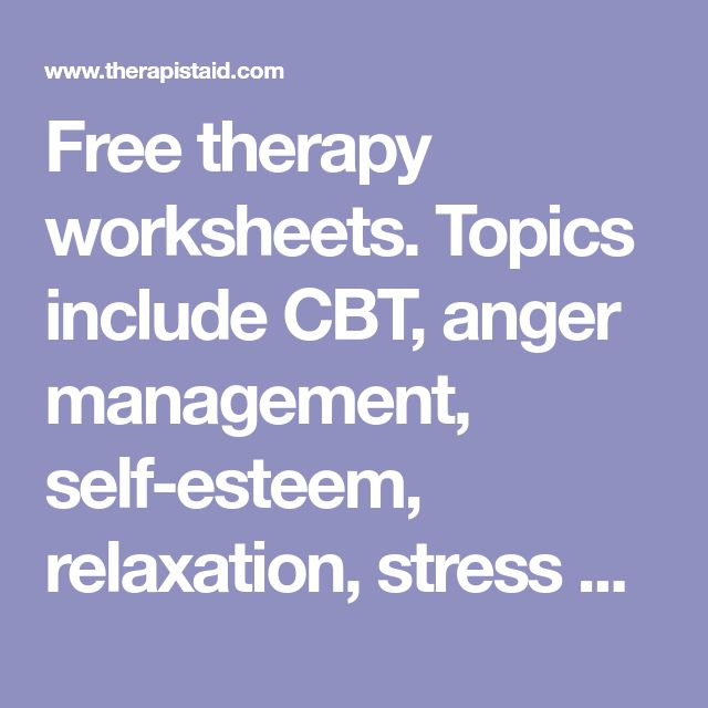 Stress Management Free Therapy Worksheets Topics Include Cbt