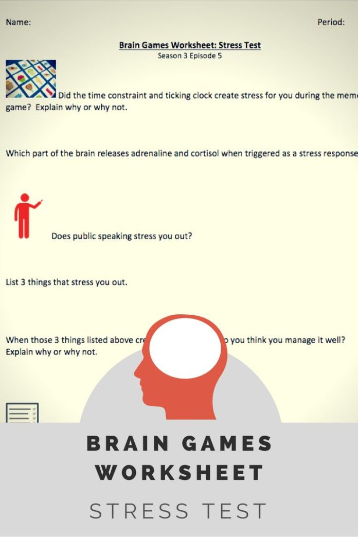 Stress management worksheet to be used with brain games tv episode stress management worksheets infographic ibookread Download