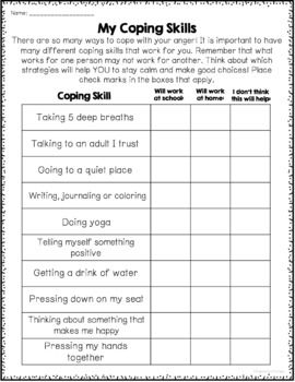 Stress management : Anger Management Worksheets ...