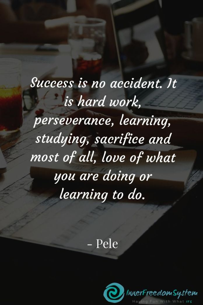 Work Quotes Success Is No Accident It Is Hard Work Perseverance