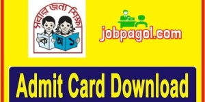 Primary Assistant Teacher Admit Card download 2019