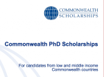 Commonwealth PhD Scholarships 2018/2019 for doctoral study in the United Kingdom (Fully Funded)