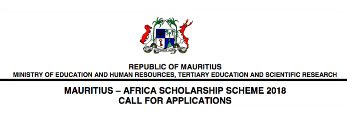 Government of Mauritius Undergraduate Africa Scholarships 2018 for Study in Mauritius (Fully Funded)