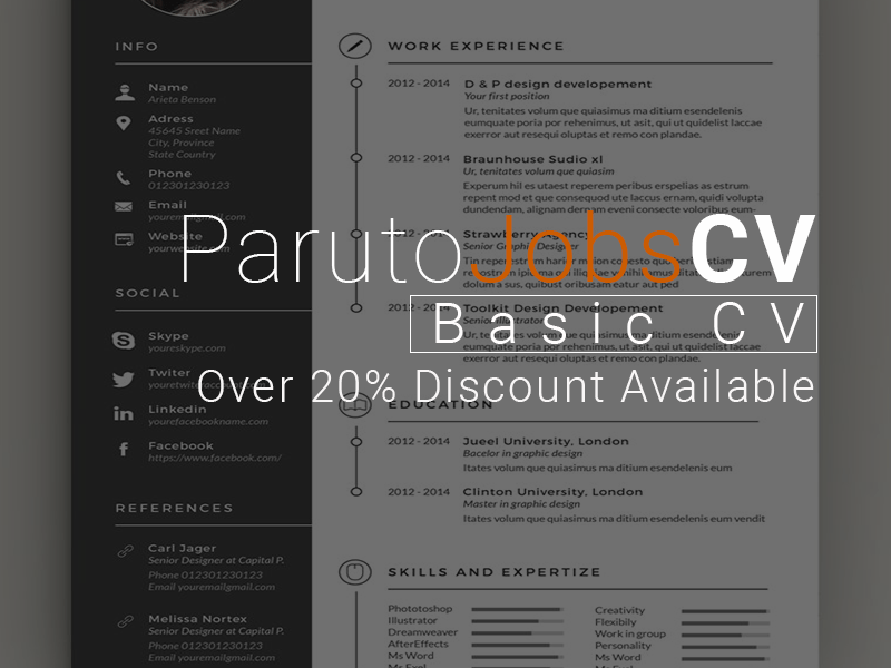 Basic CV (0 – 2 Years Experience)