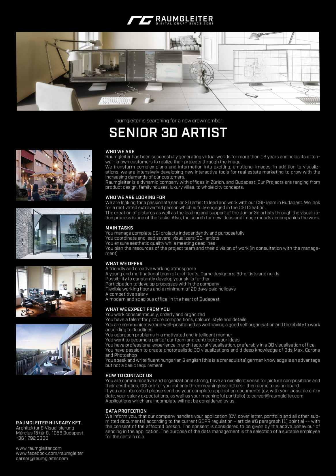 (Senior) – 3D Artist