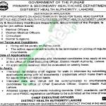 District Health Authority Lahore Jobs