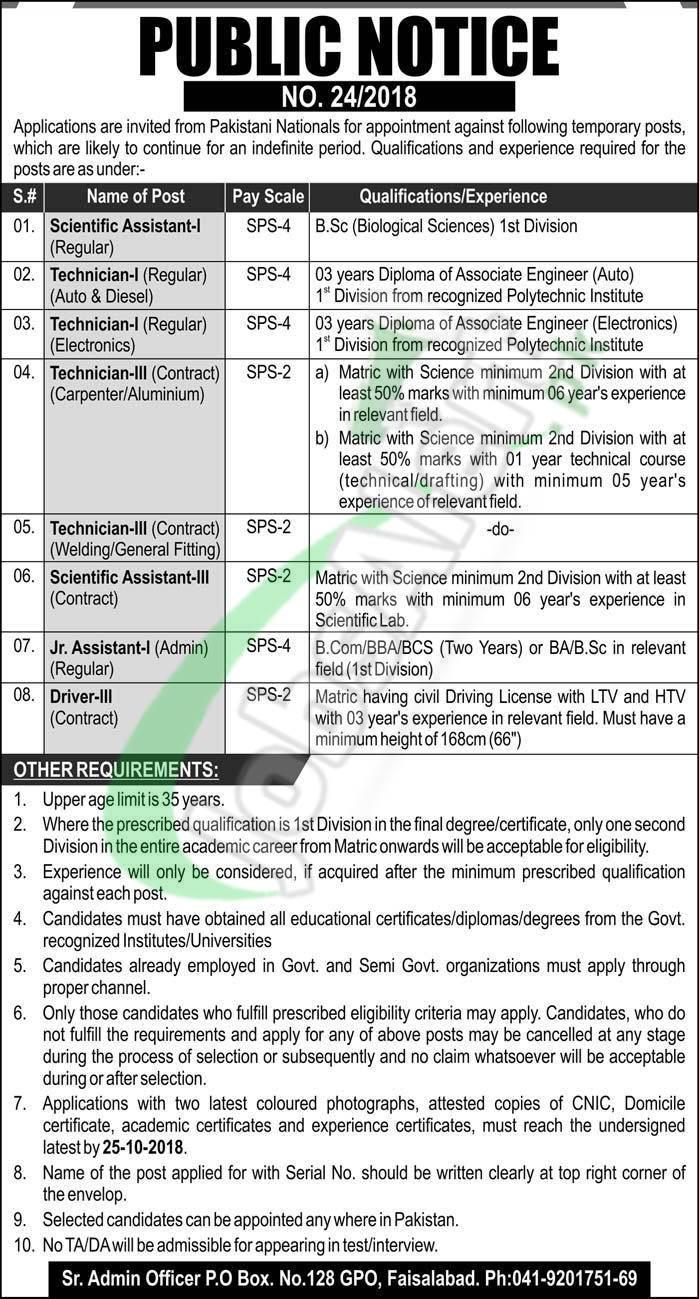 Atomic Energy Jobs 2018 in Pakistan Latest PO Box 128 Faisalabad