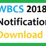 WBCS 2018 Notification Exam Date WBPSC Recruitment Vacancy