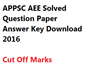 appsc aee engineer 2016 preliminary screening test solved question paper download answer key solution