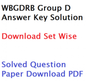 wbgdrb group d question paper download gr answer key 2017 held on 20th May solurion solved set wise 20-05-2017