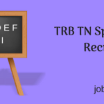 TRB TN Special Teacher Recruitment 2018 Vacancy 1325 Posts