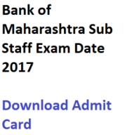 bank of maharashtra sub staff admit card 2017 download exam date bom part time recruitment written test expected publishing date hall ticket