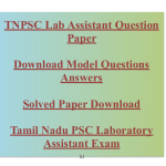 TNPSC Lab Assistant Previous Question Paper Download PDF Solved