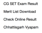 cg set result 2017 2018 merit list expected cut off marks chhattisgarh state eligibility test
