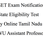 TN SET 2018 Notification Application Form Tamil Nadu State Eligibility Test