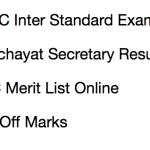 JSSC Panchayat Secretary Result 2017-18 LDC Cut Off Marks Merit List