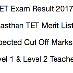 REET Result 2018 Level 1 2 Cut Off Marks Expected Merit List