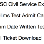 OPSC Civil Service Admit Card 2017-18 Mains OCS Download Exam Date
