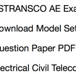 TSTRANSCO AE Previous Paper Download Solved PDF Electrical Civil Telecom
