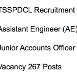 TSSPDCL Recruitment 2018 Assistant Engineer AE Civil Electrical & Jr Accounts Officer