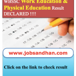 WBSSC Work Physical Education Result 2017 SLST Merit List Download