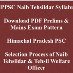 HPPSC Naib Tehsildar Syllabus 2018 Exam Pattern Download Selection Process