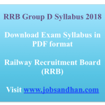 RRB Group D Syllabus 2018 Download Exam Syllabus Pattern Online Test